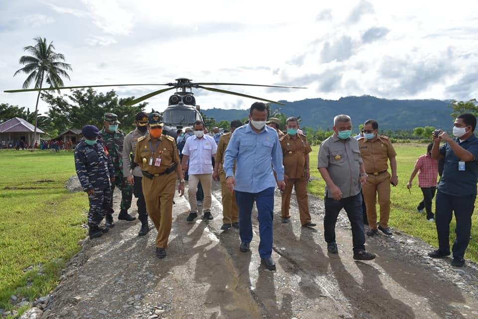 Menteri Kelautan dan Perikanan RI Tiba di Kabupaten Parimo