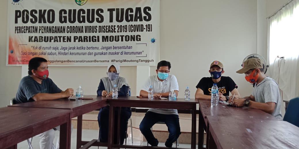Press Release Satuan Tugas Penanganan Covid-19 di Parigi Mautong.